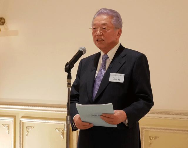 画像: 開会挨拶を行なったステレオサウンド社 会長 原田勲