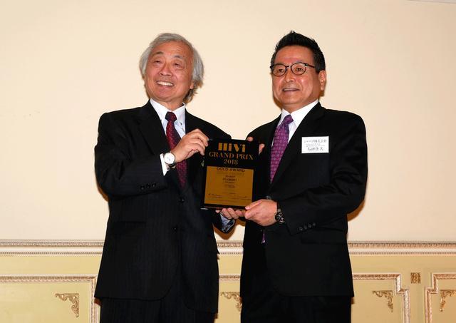 画像: Gold Awardを獲得した、シャープ 取締役 副社長執行役員の石田氏