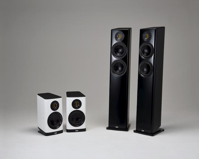 画像: ▲SPEAKER SYSTEM ELAC Vela BS403(左)、Vela FS407(右)