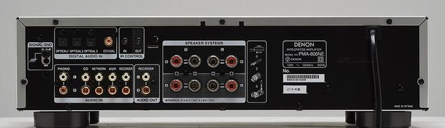 画像: ↑アナログ入力のほか、MM/MC対応のフォノ入力、192kHz/24ビットまで対応するデジタル入力(同軸、光)を備える