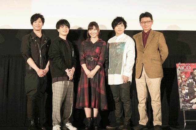 画像: 舞台挨拶に登壇したメンバー。左から古川慎、小林裕介、白石晴香、村田太志、村田和也監督