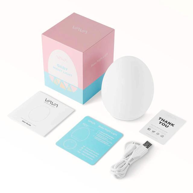 画像2: VAVA、卵型のかわいらしいナイトライト「VA-CL009」を発売。赤ちゃんのいる家庭でも安心して使える