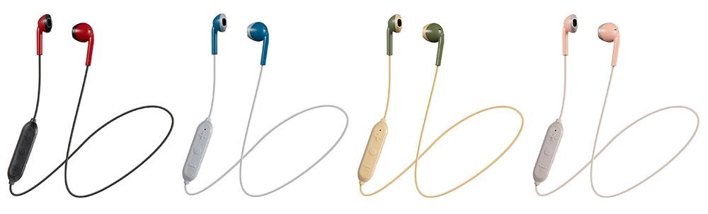 画像: 左から、RB(レッド×ブラック)、AH(ブルー×グレー)、 GC(カーキ×ベージュ)、PT(ピンク×ブラウン)