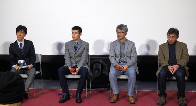 画像: 左から、NHK 8K制作事務局長の落合 淳氏、JAMSTEC海洋工学センター主任技術研究員の石橋正二郎氏、JAMSTEC海洋生物多様性研究分野主任技術研究員の吉田尊雄氏、NHK ディレクターの廣瀬 学氏