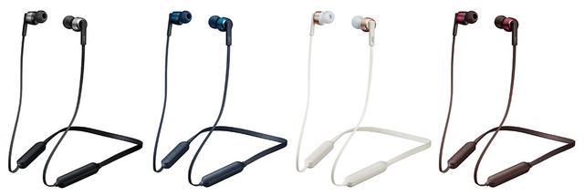 画像: 「HA-FX67BT」は4色を準備。左からブラック、ブルー、ローズゴールド、レッド