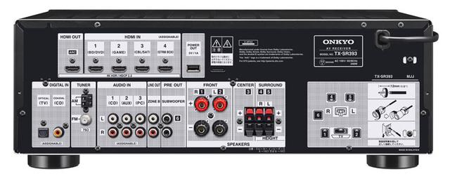 画像2: オンキヨーから、5.2ch AVセンター「TX-SR393」が2月下旬に発売。Dolby AtmosとDTS:Xに対応済みで、価格は¥49,000