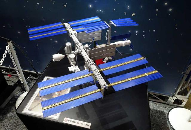 画像: ISSの模型