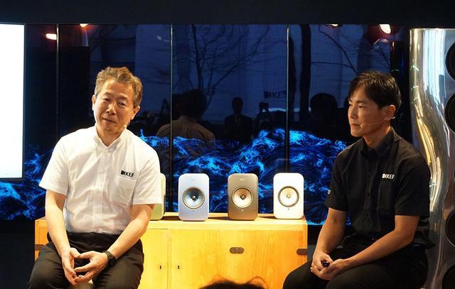 画像: 発表会では、KEF Japan代表取締役社長の浅井信行氏(左)とマーケティング部長の壱岐 浩氏(右)が新製品について解説してくれた