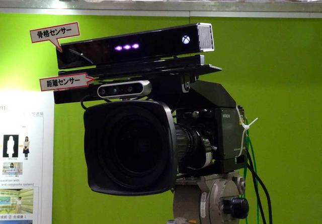 画像: カメラ上部に距離センサー骨格センサーを搭載