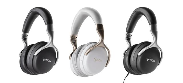 画像: デノンヘッドホンの新製品。左から「AH-GC30」「AH-GC25W(白)」「AH-GC25NC」