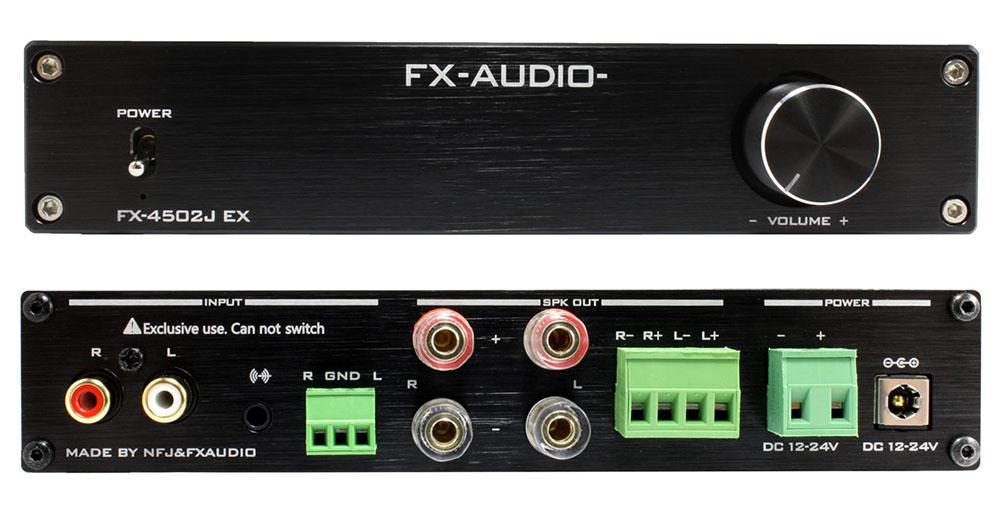 画像: FX-AUDIOから、デュアルモノーラル構成のプリメインアンプ「FX-4502J EX」がリリースされた。本日夜9時から、オンラインショップで発売