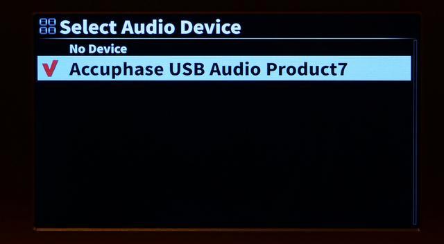 画像: ↑カクテルオーディオ製品共通の特徴として、フロントに視認性の高い7インチの大きな液晶ディスプレイがついていることが挙げられる。取材ではアキュフェーズの一体型SACD/CDプレーヤーの最高峰モデルDP-750とUSB接続を使って再生してみたが、細かな設定なしにX50Pro側がDP-750を認識した。接続先の確認は設定項目からできる