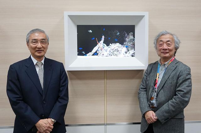 画像: 近藤哲二郎さん(左)と麻倉さん。今回はI3研究所社内の視聴スペースにお邪魔してインタビューを実施した