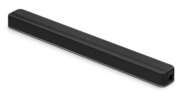 画像: スリムなフォルムの「HT-X8500」現行テレビの脚の高さ等を考慮し、邪魔にならないサイズに抑えている