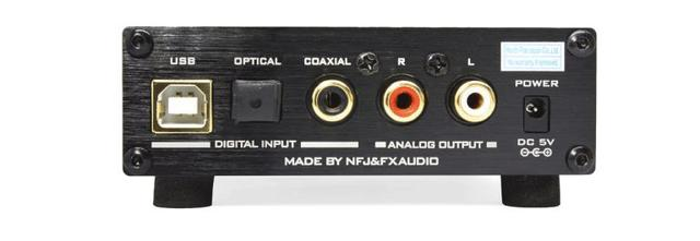 画像: デジタル音声入力はUSB、光、同軸の3系統を装備。USBは96kHz/24bitまでの対応