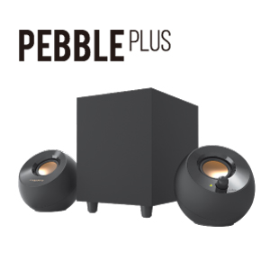 画像: ▲サブウーファー付、2.1chUSBパワースピーカー「Creative Pebble Plus」