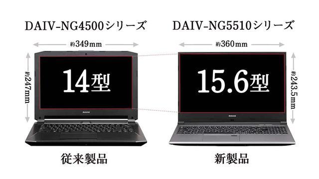 画像: マウスコンピューターのクリエイター向けブランドDAIVから、Core i7、GeForce GTX1050を搭載した15.6型ノート「DAIVNG5510」が発売