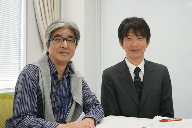 画像: インタビューに対応いただいた、NHK 編成局 展開戦略推進部 チーフプロデューサーの坂本朋彦さん(右)。インタビューの合間にも、酒井さんと映画談義でかなり盛り上がっていた