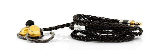 画像: FAudioの「Major」純正ケーブル「Black Sprite Cable」を8導体仕様にアップグレードできる
