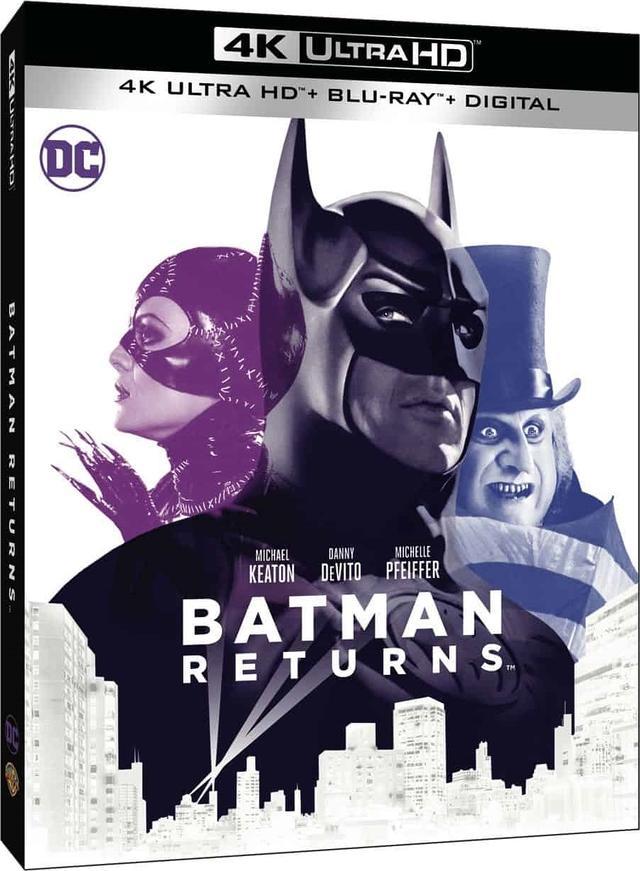 画像3: 旧シリーズ4作が4K×アトモスで登場 『バットマン』『バットマン リターンズ』『バットマン フォーエヴァー』『バットマン&ロビン/Mr.フリーズの逆襲』【海外盤Blu-ray発売情報】
