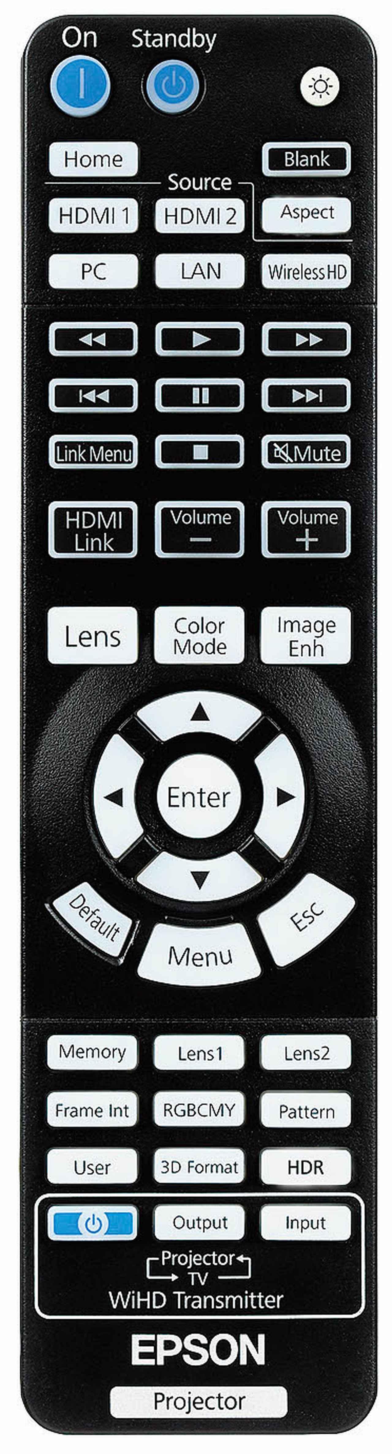 画像: ←リモコンの最下部右端にHDRボタンを装備。HDRセッティングを直接呼び出せる