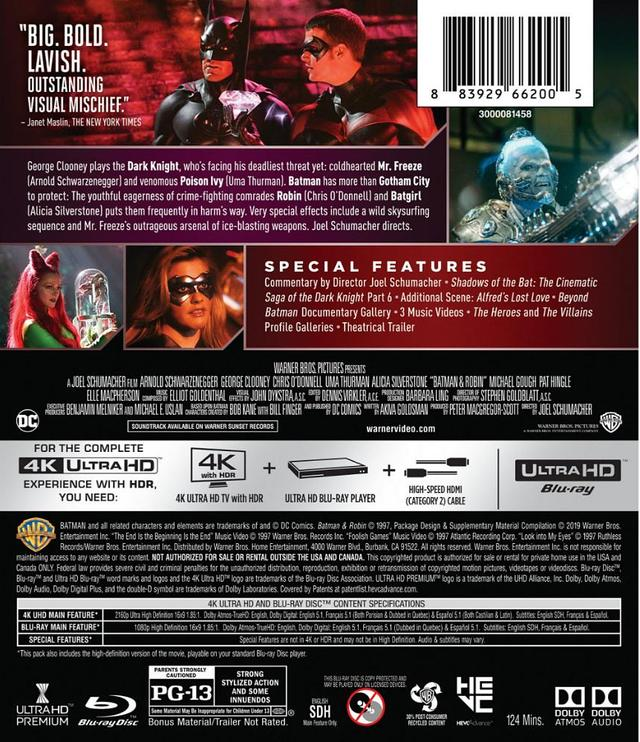 画像8: 旧シリーズ4作が4K×アトモスで登場 『バットマン』『バットマン リターンズ』『バットマン フォーエヴァー』『バットマン&ロビン/Mr.フリーズの逆襲』【海外盤Blu-ray発売情報】