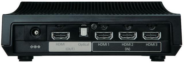 画像: ↑ワイヤレス対応モデルEH-TW8400Wに同梱されるトランスミッター。HDMI入力を3系統備えており、さまざまなソース機器との連携が可能だ。トランスミッターの仕様は前モデルのTW8300Wと同様で、ワイヤレス接続時は18Gbps伝送をサポートしていない