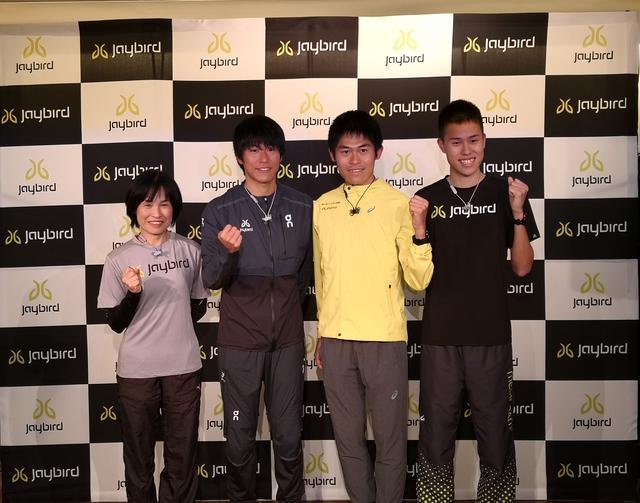 画像: 左から川内美加氏 二男鮮輝選手 長男優輝選手 三男鴻輝選手