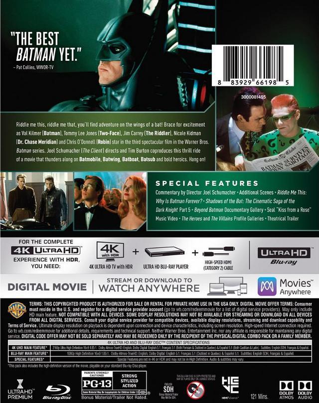 画像7: 旧シリーズ4作が4K×アトモスで登場 『バットマン』『バットマン リターンズ』『バットマン フォーエヴァー』『バットマン&ロビン/Mr.フリーズの逆襲』【海外盤Blu-ray発売情報】