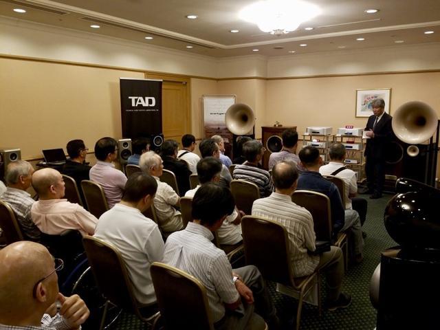 画像: 2018年に開催された「インターナショナルオーディオフェア IN 八王子」にて。三浦先生の講演は満席となった