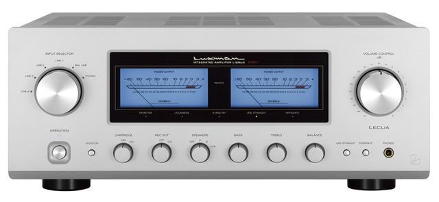 画像: ▲ステレオ再生では、ラックスマンのプリメインアンプL-505uXII(¥268,000+税)を用いた。2017年リリースの定番モデルで、8Ωで100W×2の出力を発揮。MM/MCフォノ対応のほか、サラウンド再生にも対応可能なセパレート・スイッチを装備●問合せ先:ラックスマン(株)☎︎045(470)6991