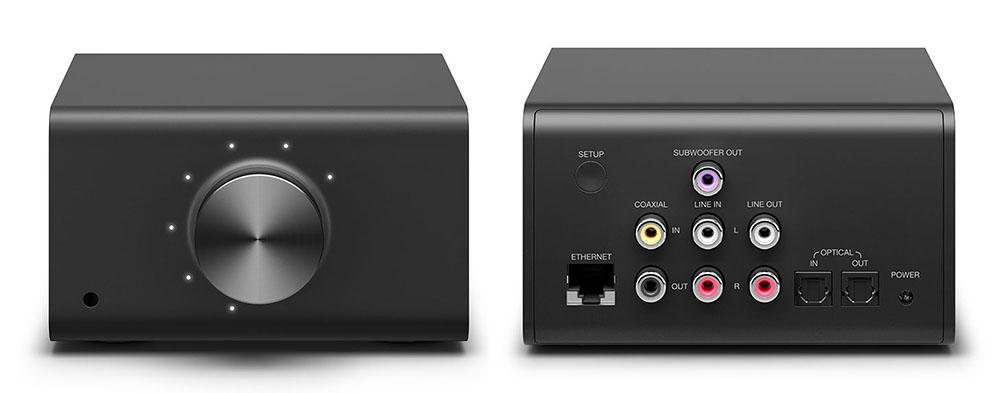 画像: 「Amazon Echo Link」(¥24,980、税込)はアナログ入出力とデジタル入出力(同軸、光)をそれぞれ1系統備える。無線LAN機能も内蔵しているが、LAN端子で有線接続すれば、Amazon Musicなどを安定した環境で楽しめる