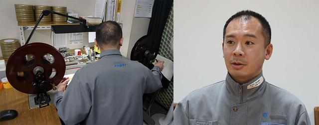 画像: 株式会社 東京現像所 映像本部 映像部 アーカイブ1課 フィルムメンテナンスグループ長 係長 伊藤岳志さん。オリジナルフィルムの状態を最初にチェックする重要な役割を担当した