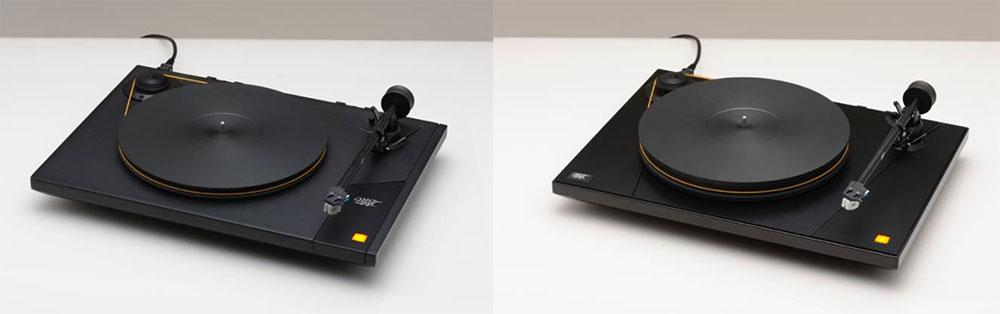 画像: ターンテーブルの「Studio Deck 2」(左)と「Ultra Deck 2」(右)