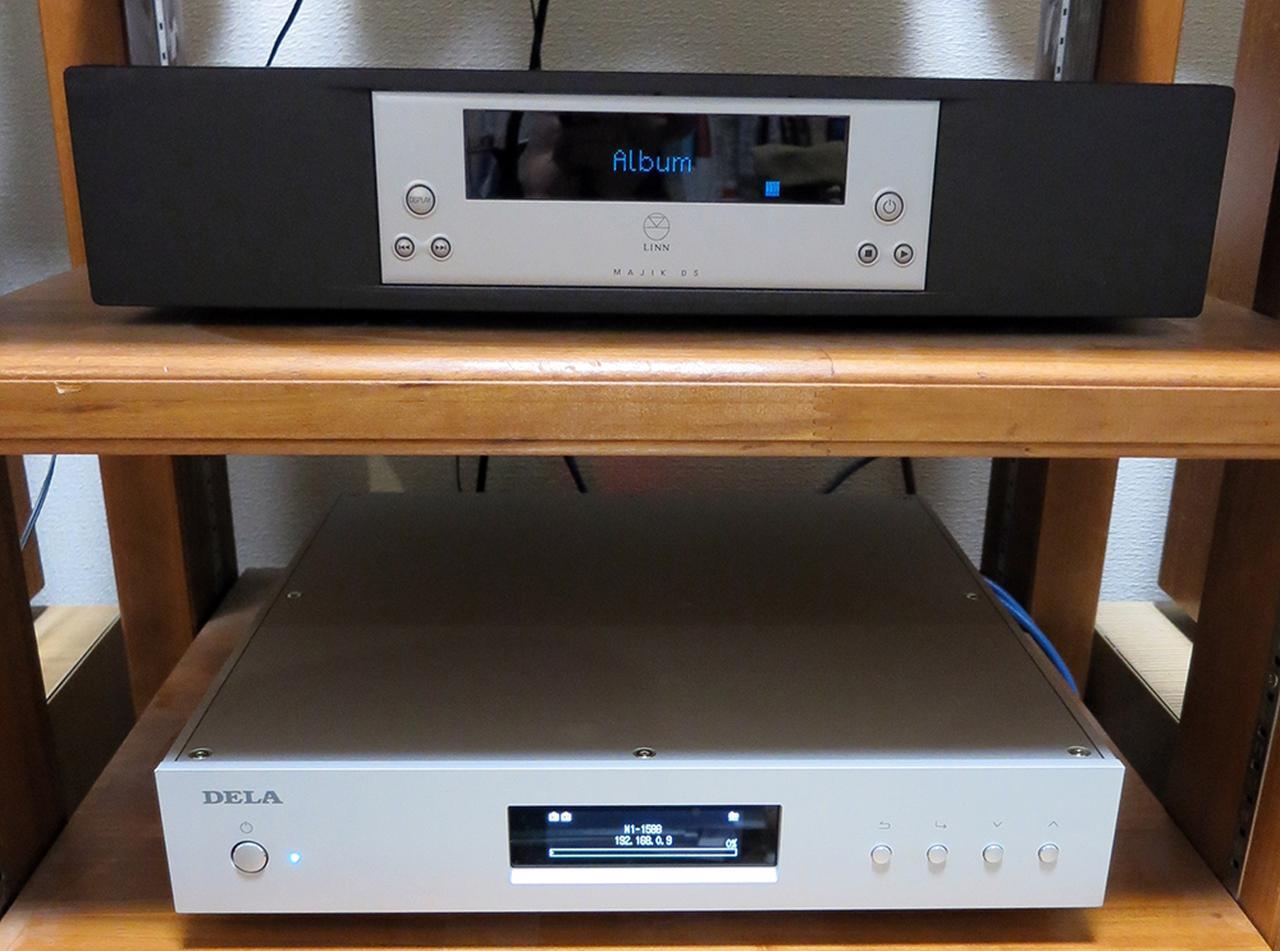 画像: ミュージックサーバーN1ZH/2はラック中段に置いて使った。N10の視聴の時も2台横並びに設置した