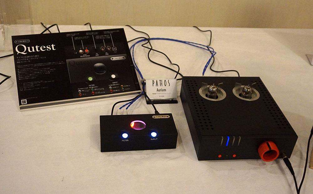 画像: パトスの純A級アナログヘッドホンアンプ「Aurium」の試聴コーナー
