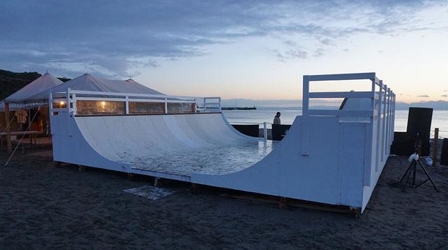 画像: 石渡誠氏がデザインしたスケートボードランプ
