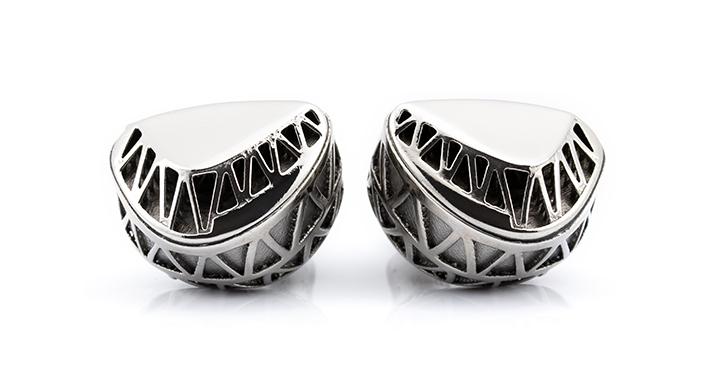 画像: MACBETH(Unique Melody) ミックスウェーブ[Mixwave] 2 Driver Custom IEMハイブリッド型Vent Hole TuningWhite Gold-Plated Metallic Sound Tubes