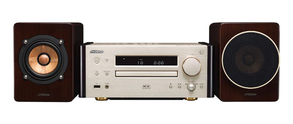 画像: ビクターのウッドコーン搭載コンパクトコンポーネントシステム「EX-HR10000」