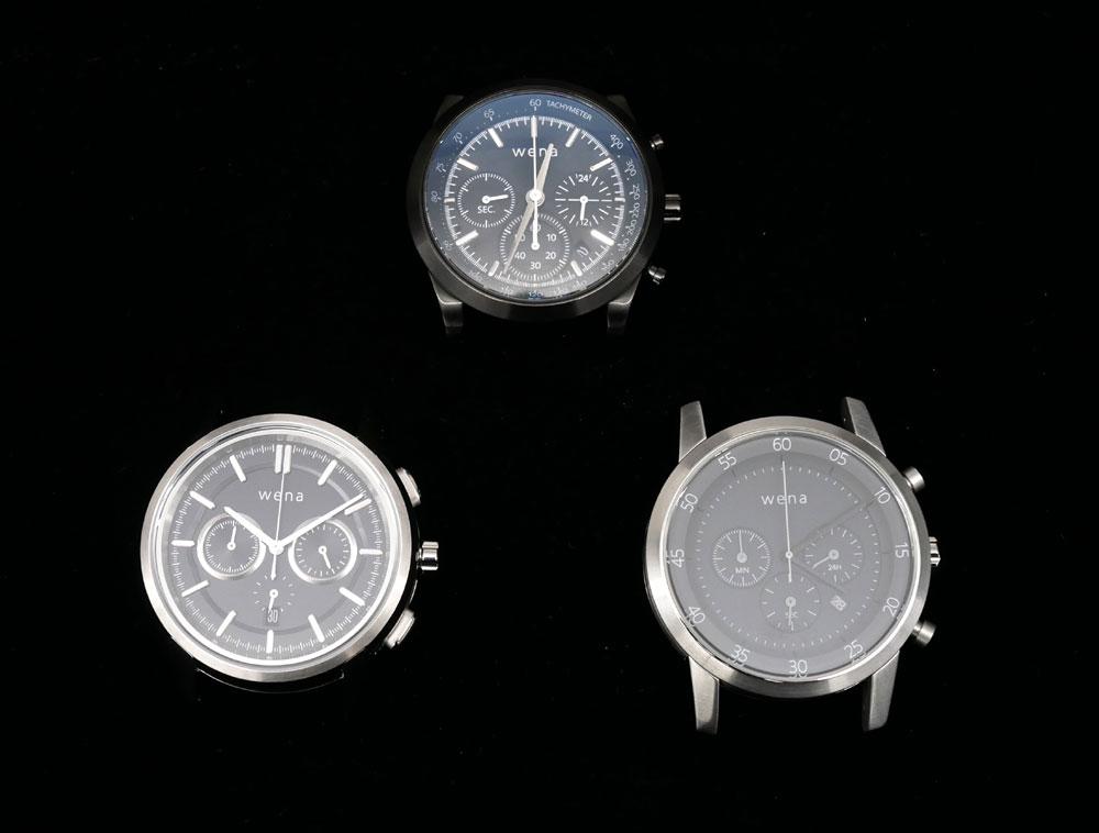 画像: wena wristのクロノグラフシリーズ。左下が今回の新製品