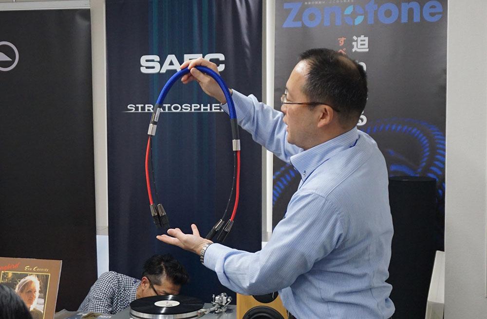 画像: ゾノトーン製インターコネクトケーブル比較試聴の様子