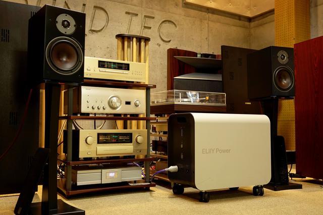 画像: 2010年に初めて発売した、室内用可搬型蓄電システム「エリーパワー」が用意される 詳しくはこちら www.sound-tec.com