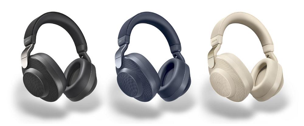 画像: Jabraのアクティブノイズキャンセリング対応ヘッドホン「Elite 85h」。本体カラーはチタニウムブラック、ゴールドベージュ、ネイビーの3色
