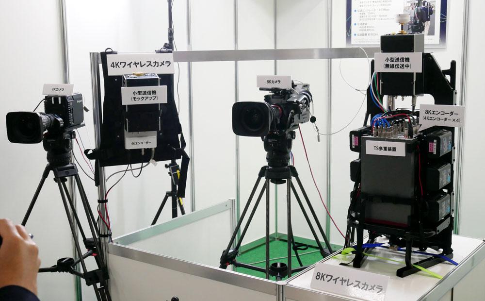 画像: ▲スタジアムなどのフィールドで活躍しそうな、8Kカメラのワイヤレスシステム