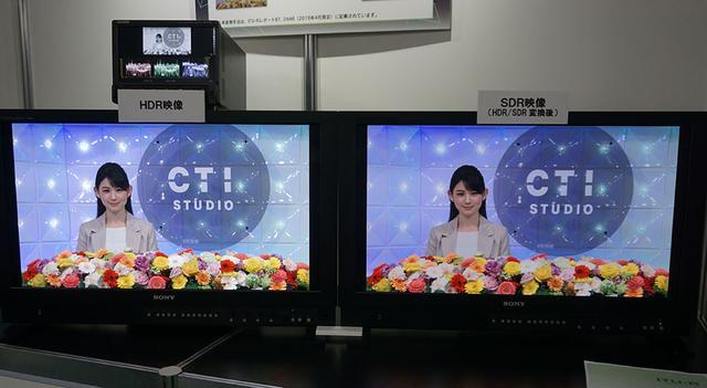 画像: 左がオリジナルのHDR映像で、右はそれをSDR変換したもの。輝度感はともかくとして、色味はよく似ている