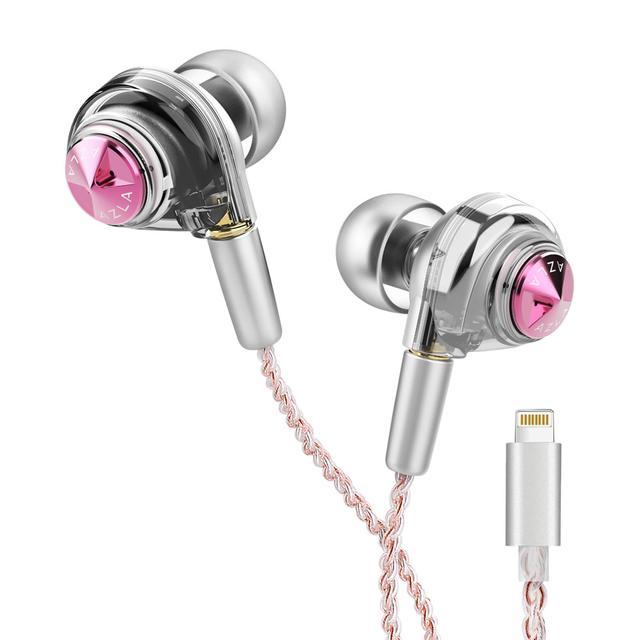画像: Lightningコネクター搭載のイヤホン「ORTA Lightning」。カラーリングは、Queenly Pink(写真)とClassy Goldの2色展開