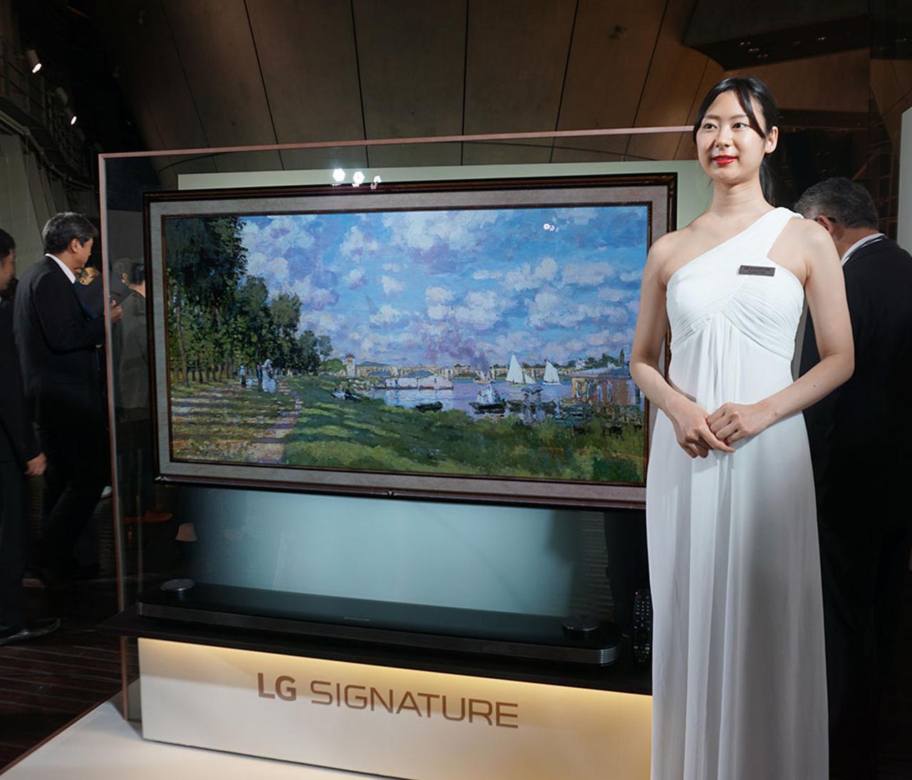 画像: 4K有機ELテレビ「LG SIGNATURE W9」は、日本でも「W9P」の型番で発売中。写真は65インチモデル