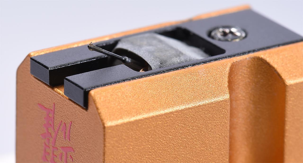画像: カンチレバーはφ0.3mmの無垢ボロン製、スタイラスはセミラインコンタクト形状。