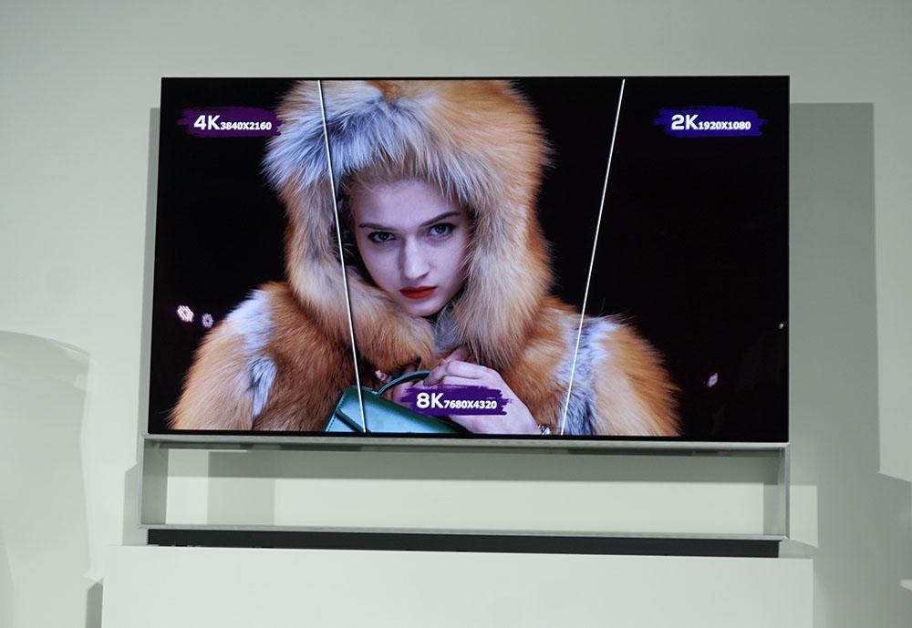 画像: 8K 88インチ有機ELテレビ「LG SIGNATURE Z9」。最新仕様のパネルを搭載している模様