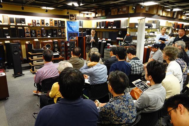 画像: 1階店舗奥が会場。写真ではわからないが、店の入口側までたくさんのお客様であふれた www.audiounion.jp